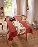 """Dekoleidenschaft Tischläufer """"Kürbisernte"""", 40 x 140 cm, Tischband, Tisch Servieren, Tischdecke"""