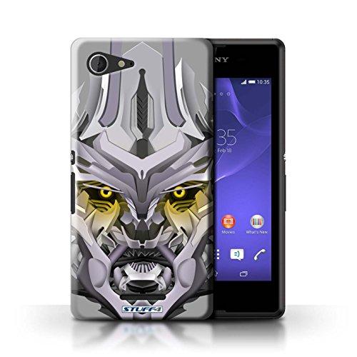 Kobalt® Imprimé Etui / Coque pour Sony Xperia E3 / Bumble-Bot Rouge conception / Série Robots Mega-Bot Jaune