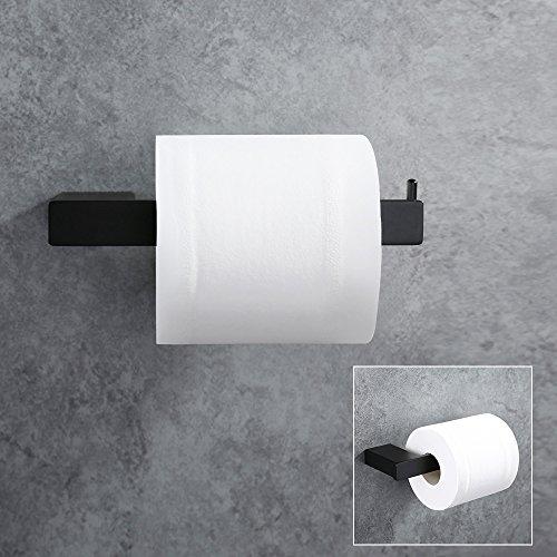 Homelody® Schwarz Aus SS 304 Edelstahl Toilettenpapierhalter Zeitgenössisch  WC Papierhalter Klopapierhalter Toilettenpapierrollenhalter WC