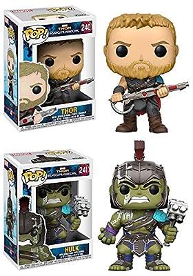 Funko POP! Thor Ragnarok: Thor + Hulk – Marvel Vinyl Bobble-Head Figure Set NEW