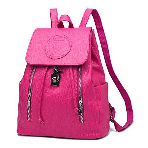 schwarz rosig Damen M Flada schwarz Rucksackhandtasche 6Rn0F