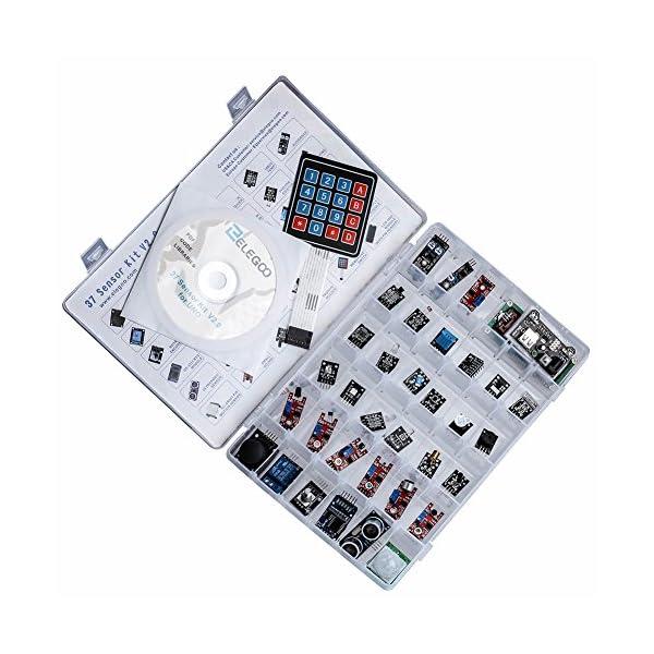 51rVgZEYd9L. SS600  - ELEGOO Actualizado 37-en-1 Kit de Módulos de Sensores con Tutorial para Arduino UNO R3 Mega 2560 Nano Arduino Sensores Kit Raspberry Sensores