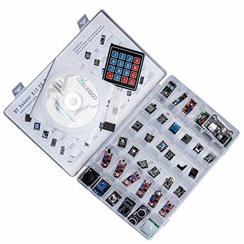 51rVgZEYd9L - ELEGOO Actualizado 37-en-1 Kit de Módulos de Sensores con Tutorial para Arduino UNO R3 Mega 2560 Nano Arduino Sensores Kit Raspberry Sensores