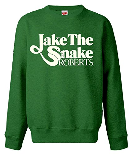 WWE Jake The Snake Roberts Logo Official Sweatshirt (Green) (XX-Large) Logo Sleeper