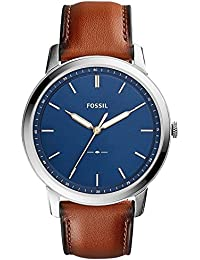 Fossil Men's Quartz Movement Leather Analogue Watch(Blue Dial And Brown Band, WFIF-FS5304I)
