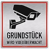 Schild Videoüberwachung Grundstück wird Videoüberwacht