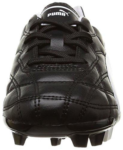 Puma Classico Fg, Chaussures de  Football Entrainement garçon Noir (Black/White/Gold)