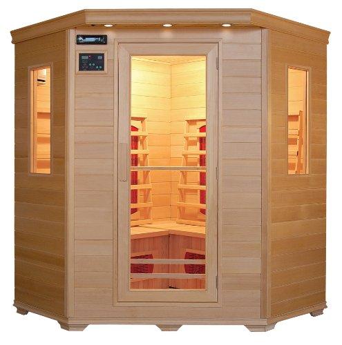Preisvergleich Produktbild Infrarotkabine / Wärmekabine / Sauna - ECK ! für 4 Personen SONDERAKTION
