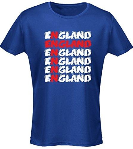 swagwear England Cross Funky Football Womens T-Shirt 8 Colours (8-20)