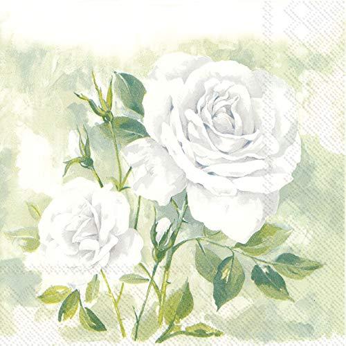 Ihr Servietten Rose Boutique white 33 x 33 cm 20 St. 3-lagig