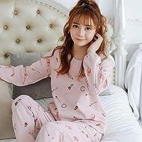 YTNGA Pijamas De Mujer Conjuntos de Pijamas de Mujer Conjuntos de Pijamas de Manga Larga de algodón de otoño Pijamas de Mujeres, 715, XXL