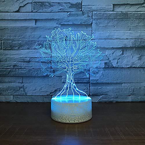 3D Optische Illusions-Lampen Baum 7 Farben Erstaunliche Optische Täuschung Die Schlafzimmer-Dekoration Für Kinder Weihnachten Halloween-Geburtstagsgeschenk Beleuchten (Halloween-weihnachten Baum Dekorationen)