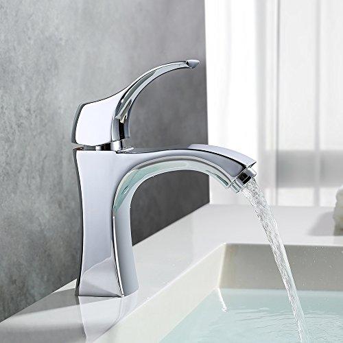 Homelody – Design-Waschbeckenarmatur, Einhebel, ohne Ablaufgarnitur, Keramikkartusche, Chrom - 8
