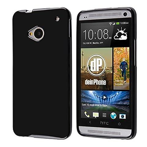 deinPhone HTC One M7 Silikon Case Hülle Schwarz