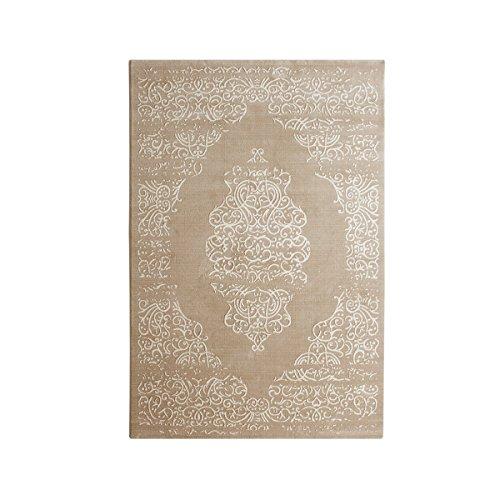 Moderner Teppich Soraya - Farbe: Beige | wunderschönes Motiv | strapazierfähige & pflegeleichte Kunstfaser | vielseitig einsetzbar in...