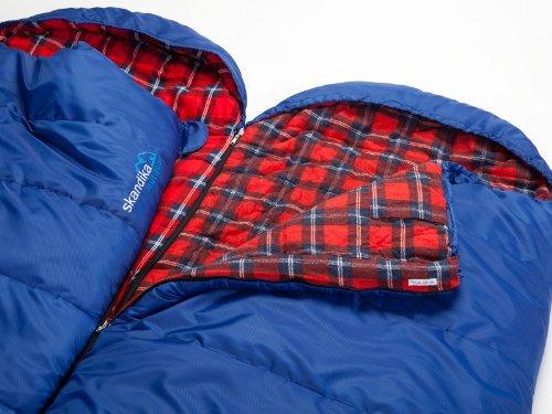skandika Erwachsene Schlafsack Dundee (RV Links), Blau, M, 16104_L -