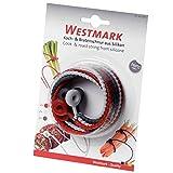 Westmark 6 wiederverwendbare Koch- und Bratschnüre, Silikon, Länge: 40,5 cm, Rot/Weiß, 15242280