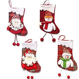Dusenly – Calcetín de Navidad (4 Unidades, tamaño Grande)