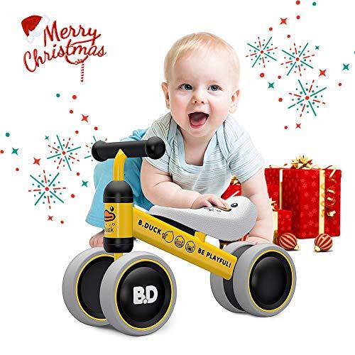 YGJT Bicicletas sin Pedales para Niños 1 Año(10-18 Meses) Triciclos Bebes Correpasillos Juguetes Regalos bebé Bici sin Pedales niño (Pato Amarillo)