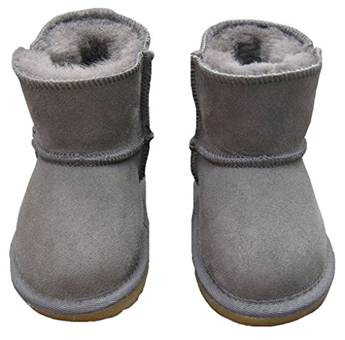 ACMEDE - Bottes de Neige Chaudes Et Souples Pour Enfants Bébé Fille Garçon En Hiver Chaussures Fourrure Snow Boots Gris