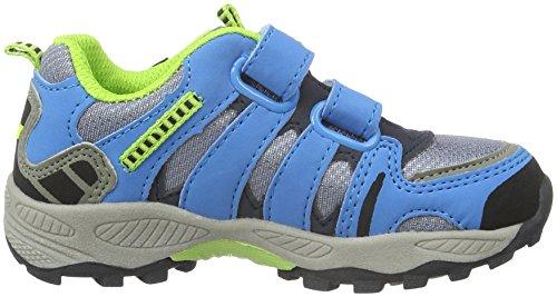 Lico Fremont V, Chaussures de Randonnée Basses Mixte Enfant Gris (Grau/blau/lemon)