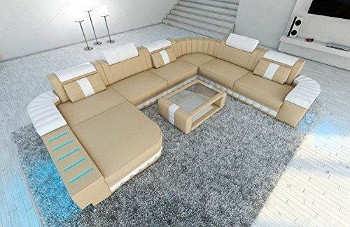 Intérieur de la maison Bellagio XXL avec éclairage LED beige sable - Blanc