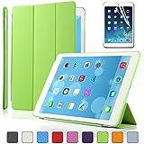 Besdata® Apple iPad Smart Housse de protection en polyuréthane avec Coque arrière pour IPad Air, Vert - PT4106