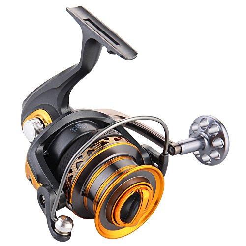 Lixada 13 + 1BB Rodamientos Pesca Surfcasting de Larga Distancia de Carrete Izquierda Convertible Plegable Mango Spinning Reel
