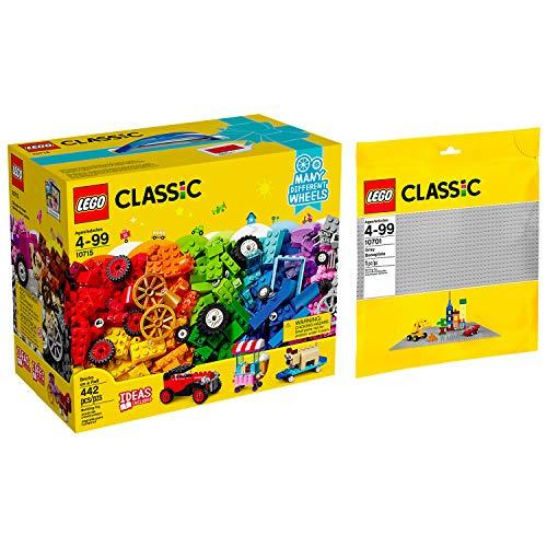 Lego Classic 2er Set 10715 10701 Kreativ-Bauset Fahrzeuge + Graue Grundplatte