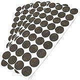Adsamm® | 180 x Filzgleiter | Ø 24 mm | Braun | rund | 3.5 mm starke selbstklebende Filz-Möbelgleiter in Top-Qualität von Adsamm®