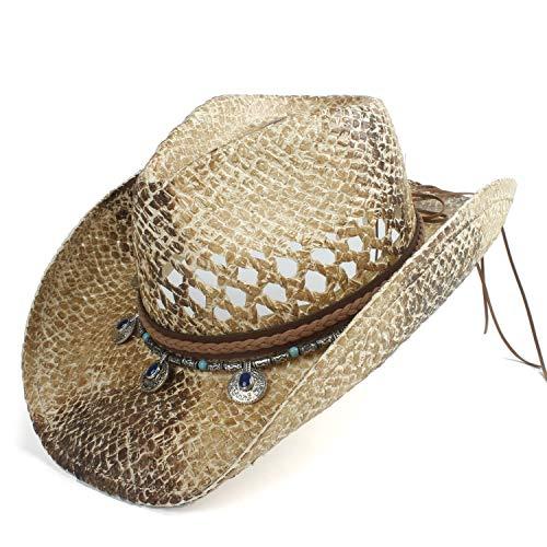 Clásico Mujeres Hombres Graffiti Paja Western Cowboy Hat Verano Seño