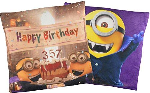 ns Kissen: Happy Birthday Dracula / Vampir Minion 40x40 cm ()