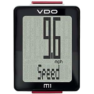 VDO M1WR Fahrrad Computer mit Kabel, schwarz