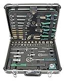Brüder Mannesmann 29078 Werkzeugkoffer 160 tlg. Wasserwaage Säge Zange Werkzeuge Set