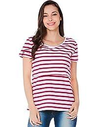 407aa7134c68f BBsmile Ropa premamá Mujer A Rayas Embarazadas Bebé de Enfermería para la  Maternidad Blusa Multifuncional Camiseta