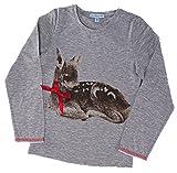 Louis & Louisa Kindershirt 'Bambi liegend', grau (80/86
