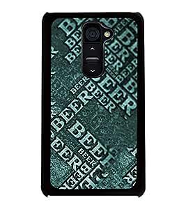 Fuson 2D Printed Beer Designer back case cover for LG G2 - D4453