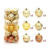 Oyamihin Weihnachtsballlichtball 6cm24 malte Ballpaket Weihnachtsbaumdekoration-Ballfaß
