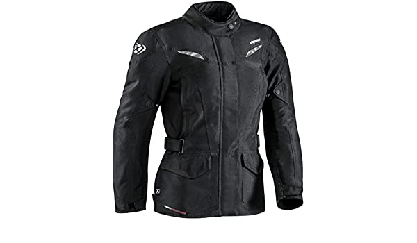 Black XL Airbag Ready Merlin Stafford Wax Motorcycle Jacket
