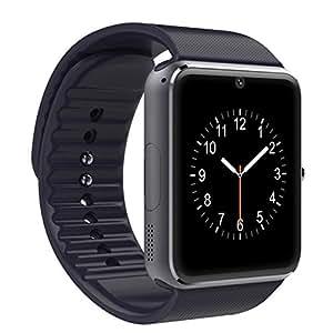 """LaTEC 1.54 """"Bluetooth smart orologio da polso Watch Phone con Camera SIM & TF card LCD Touch Screen ha il pedometro per smartphone Android (Nero)"""