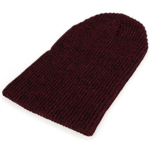 Surker hiver Beret chaud tricot Tress¨¦ Bonnet gris fonc¨¦