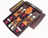 LLZGPZBD Hosenträger/Mode Herren Hosenträger 6 Clips Lederhosenträger Hosenträger Hosenträger Verstellbare Elastische Hosenträger Wettbewerbe Strap, Lavendel