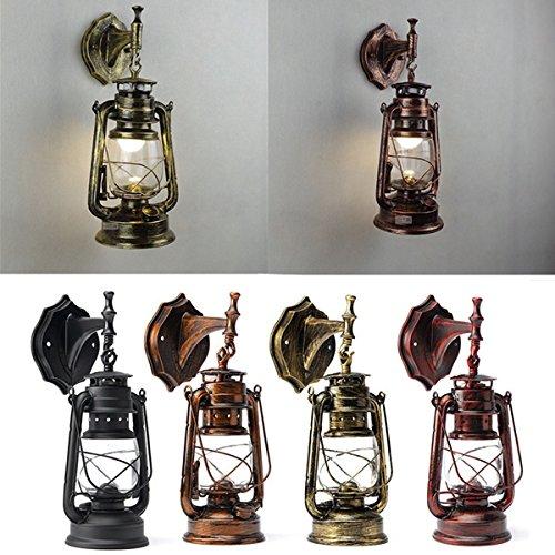 BZAHW Retro Antiguo Vintage Exterior Linterna Lámpara de pared Bar Cafe Aplique...