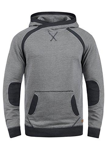 Blend Steve Herren Kapuzenpullover Hoodie Pullover Mit Kapuze Cross-Over-Kragen Und Fleece-Innenseite, Größe:XXL, Farbe:Black (70155) - Blend Hoodie