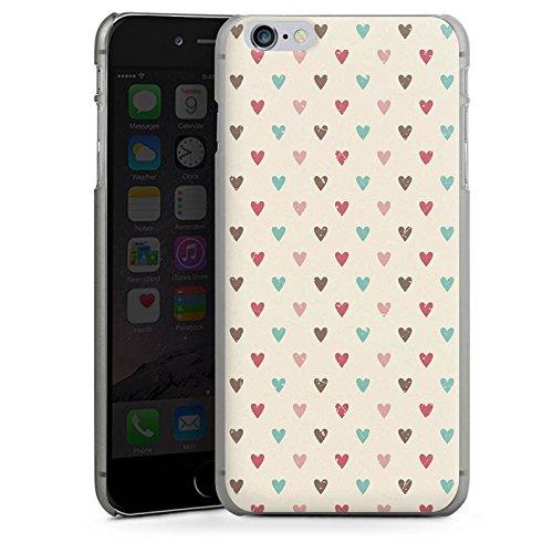 Apple iPhone 4 Housse Étui Silicone Coque Protection C½ur Motif rétro Amour CasDur anthracite clair