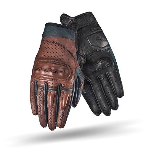 Shima Caliber Lady, mujer retro vintage custom Verano piel moto guantes (XS-L, marrón), Brown, Tamaño S