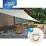 sunprotect 83243 Waterproof Tenda a Vela, 3.6 x 3.6 m, triangolo, crema