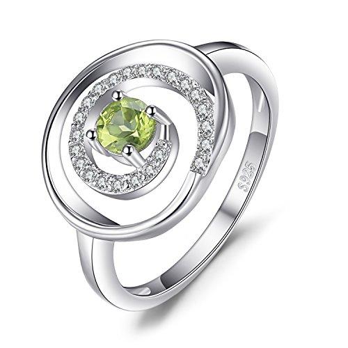 ar Swirl 0.3CT Genuine Peridot Jahrestag Cocktail Ring 925 Sterling Silber ()