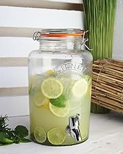 getr nkespender original 5 l glas vintage wasserspender saftspender zapfhahn deckel. Black Bedroom Furniture Sets. Home Design Ideas