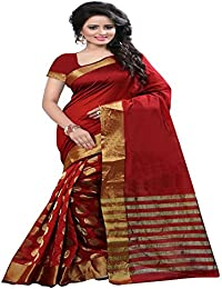 High Glitz Fashion Saree For Womens Maroon Colour Cotton Saree With Latest Designer Saree With Blouse Piece Ideal...